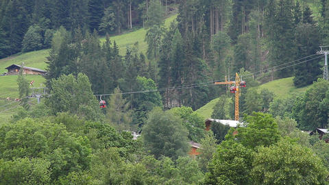 Ski Lifts in the Summer 01 Stock Video Footage