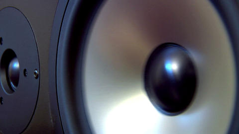 10624 speaker two fast dolly Stock Video Footage