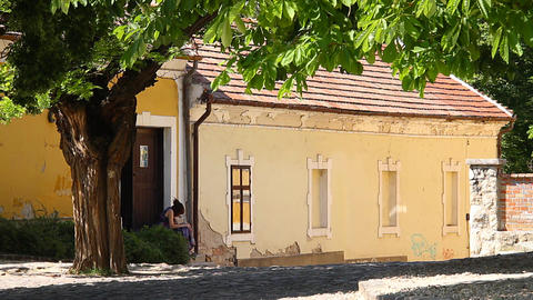 Old European Village 14 Stock Video Footage
