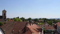 Old European Village 16 rooftops Stock Video Footage