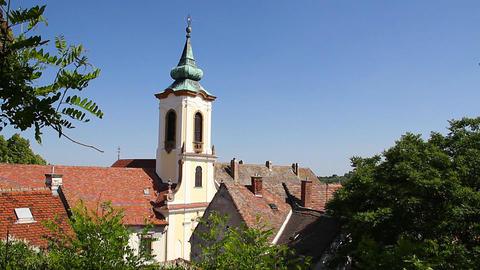 Old European Village 18 church Stock Video Footage