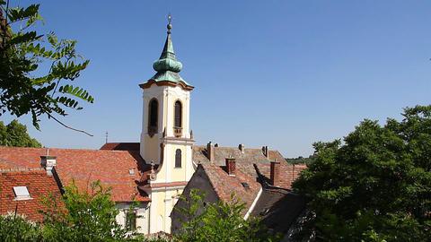 Old European Village 18 church Footage