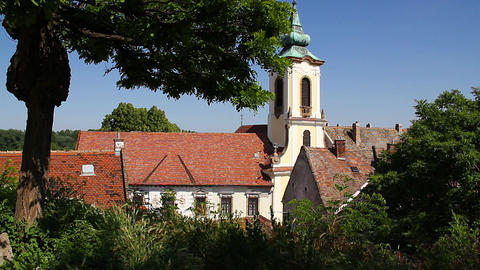 Old European Village 20 church Footage