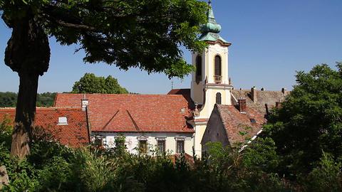 Old European Village 20 church Stock Video Footage