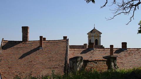 Old European Village 23 rooftops Stock Video Footage