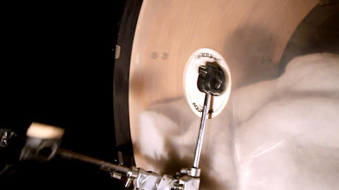 Bass drum double pedal Stock Video Footage