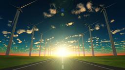 Wind power generation Animation