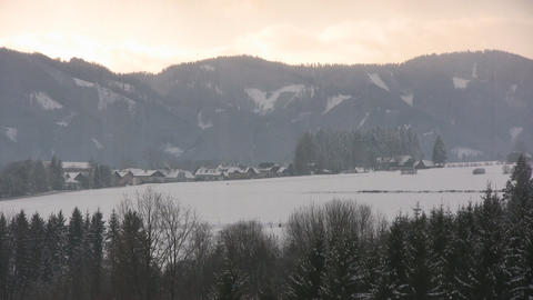 Snow in the Alps Stock Video Footage