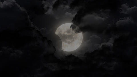 dark moon disappear Stock Video Footage