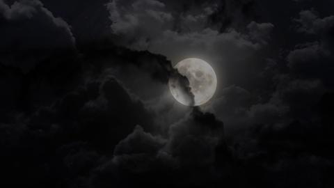 dark moon Stock Video Footage