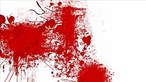 Blood splashes Stock Video Footage