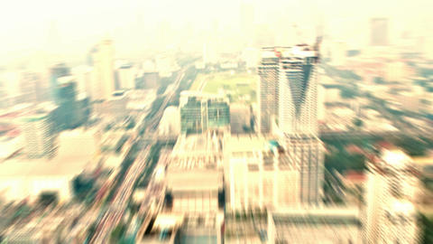 Fly over city Stock Video Footage