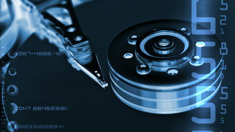 HDD data Stock Video Footage