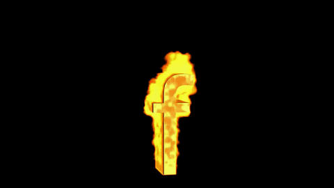 fire alphabet f Stock Video Footage
