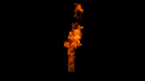 fire alphabet f Animation