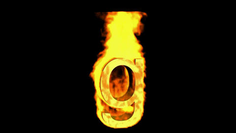 fire letter g Stock Video Footage
