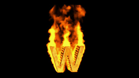 fire alphabet w Stock Video Footage