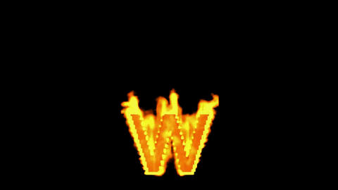fire alphabet w Stock Video Footage