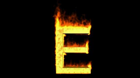 fire letter E,uppercase Animation