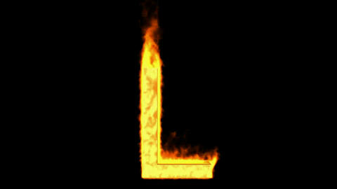 fire letter L Stock Video Footage