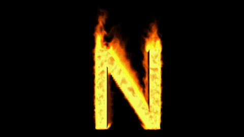 fire letter N Stock Video Footage