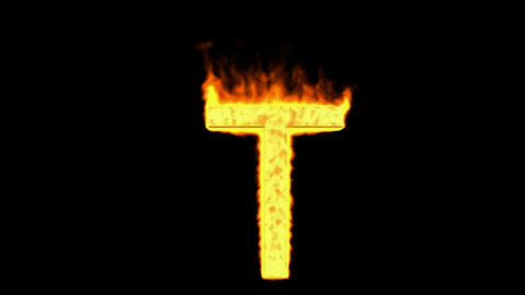 fire letter T Animation
