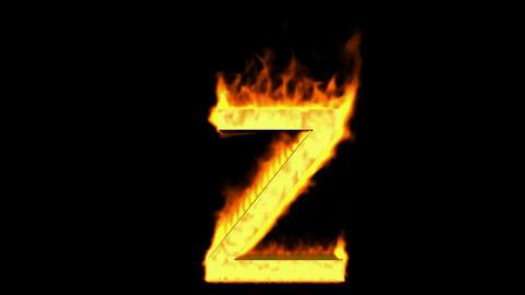fire alphabet Z Stock Video Footage