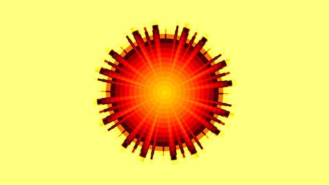 The sun (pattern) Stock Video Footage