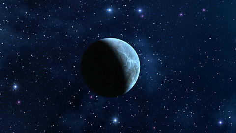 The moon (planet) in the star sky Stock Video Footage