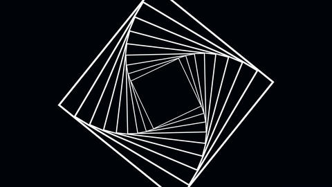 Rotating squares (spiral) Stock Video Footage