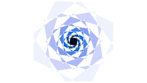 Rotating squares (spiral) Animation