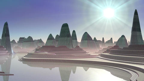 City of aliens Stock Video Footage