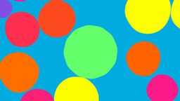 Color spheres turning to a flower Stock Video Footage