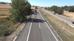 Vehicle traffic on highway 08 Footage