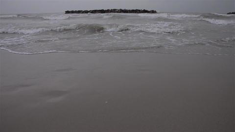 Waves on beach 08 Footage