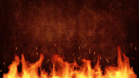 Fire title plate CG動画素材