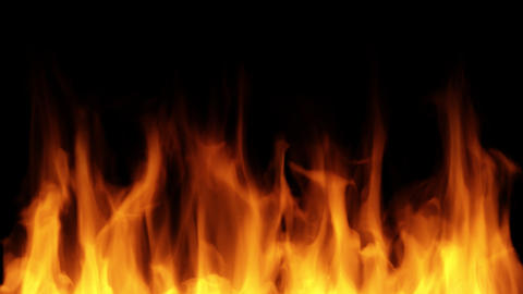 Realistic Fire stock footage