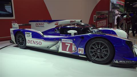 Toyota Le Man P1 Race Car stock footage