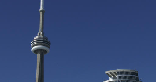 CN Tower and skyscrapers in Toronto, Canada Footage