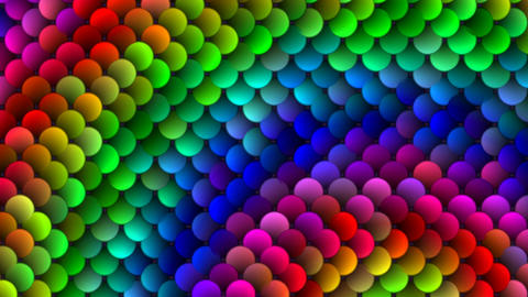 Color full-spheres (circles) Stock Video Footage