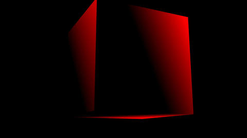 Rotating red cube Stock Video Footage