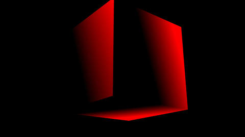 Rotating red cube Animation