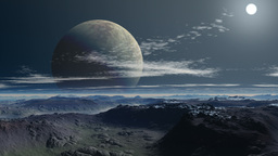 Two moon (planet) Animation