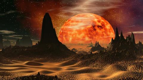 Sunrise on Venus Stock Video Footage