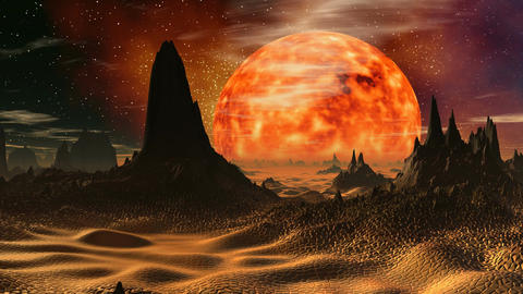 Sunrise on Venus Stock Video Footage