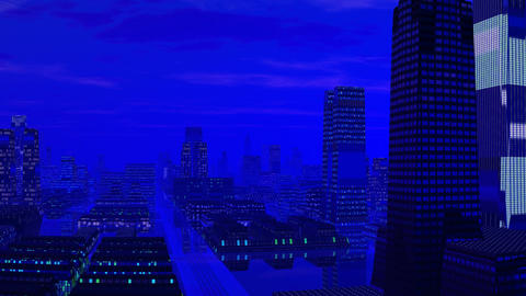 Fantastic blue city Stock Video Footage