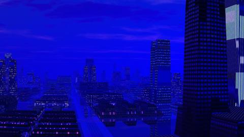 Fantastic blue city Stock Video Footage