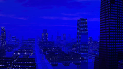 Fantastic blue city Animation