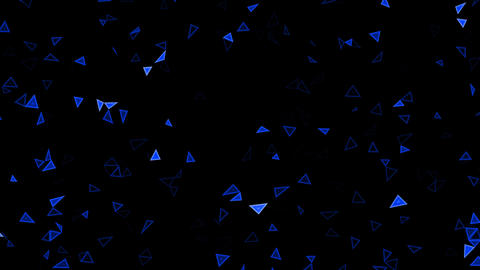 Rotating blue triangles (splinters, crystals) Stock Video Footage