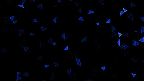 Rotating blue triangles (splinters, crystals) Animation